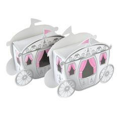Enchanted Carriage Wedding Favor Boxes Fairy Tale Princess Baby Shower Birthday Party Favors Set of 24 on Etsy, $13.89