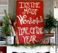 It's the most wonderful time of the year home tour - Design Dazzle like the books stacked on the pedestal.