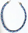 Kumihimo necklace tutorial using rattail / rat tail satin cord-Supplies and tutorials
