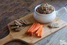 Roasted Eggplant Dip with Homemade Garlic, Herb, and Sea Salt Crackers - Lexi's Clean Kitchen