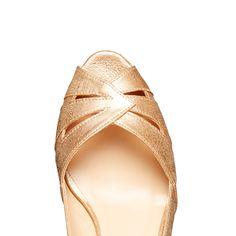 MULE PLATE BOUCLE CUIR CAMEL Colisée Paris chaussures