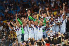 Die Weltmeister! Deutschland sicherte sich mit dem 1:0 gegen Argentinien zum...