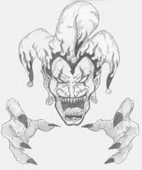 Drawings Of Evil Jesters Demon jester tattoo design Scary Clown Drawing, Scary Drawings, Badass Drawings, Joker Drawings, Art Drawings Sketches, Skull Drawings, Drawing Art, Evil Clowns, Scary Clowns