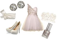 """A feminine touch of White"" by classyinpink on Polyvore"