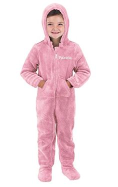 64a32c04da5 PajamaGram HoodieFootie Fleece Onesie ZipFront Pajamas Pink 3T   To view  further for this item