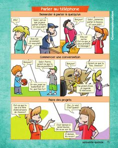 from Francais en images_Complet Core French, French Class, French Lessons, French Conversation, French Course, French Expressions, School Quotes, Teaching French, Learn French