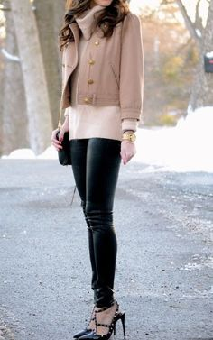Leather and camel. Just perfect
