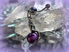 Fantasy Purple Mermaid Belly Ring Trending by #Lusmysticjewels #purple #mermaid #siren #fantasy #nautical #bellyring #bellybutton
