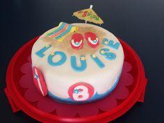 Beach birthday cake