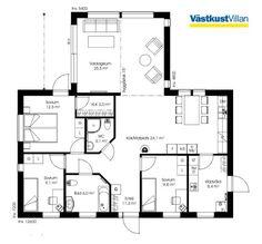 Schwedenhaus bungalow grundriss  Schwedenhaus eingeschossig SkandiHaus 101 Grundriss | haus ...