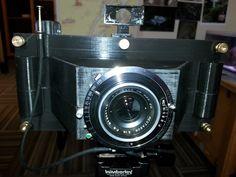 3D Printed medium format camera printed in Coal Black ProSpec PLA! Seriously cool!