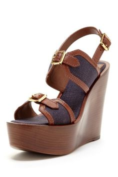 Tory Burch Florian Wedge Sandal by Simply Sandals on @HauteLook