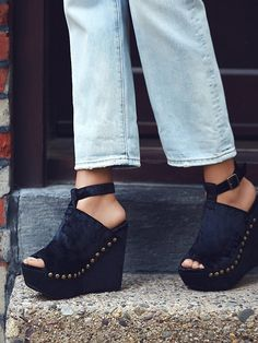 Jeffery Campbell + Free People New Wave Velvet Platform at Free People Clothing Boutique