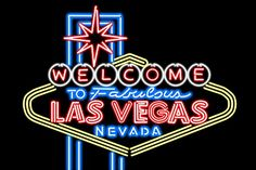 Las Vegas, Nevada - Neon Lights Welcome Sign (36x24 Gallery Quality Metal Art)