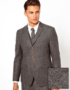 Scott's suit- ASOS Slim Fit Suit Herringbone
