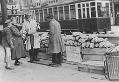Strassenhandel Berlin, Verkauf von Gänsen-1928