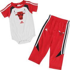 Chicago Bulls Infant Baby adidas Creeper and Pant Set  $31.99