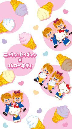 Sanrio Wallpaper, Hello Kitty Wallpaper, Iphone Wallpaper, Sanrio Characters, Sanrio Hello Kitty, Little Twin Stars, Friends Forever, Pikachu, Bunny