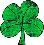 St. Patrick's Holiday Clover Free Stained Glass Pattern