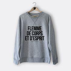 Sweat homme - Flemme de corps et d'esprit - Square Up #outfit #ootd #flemme