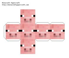 Minecraft Papercraft Face Block - Pig