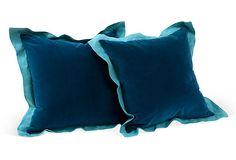 Blue Linen & Velvet
