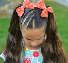 Hair Bun Ballet Hairstyles Ideas For 2019 Lil Girl Hairstyles, Kids Braided Hairstyles, Braided Ponytail, Trendy Hairstyles, Boy Haircuts, Ballet Hairstyles, Short Haircuts, Teenage Hairstyles, Toddler Haircuts