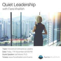 This event is tomorrow and I'm looking forward to seeing you there!  It does not matter if you are an introvert, ambivert or an extrovert because we are talking about the 3! :)  #Vancouver | #QuietLeadership | The Profile Coworking Business Clubs | Karl Moore | #Vancity