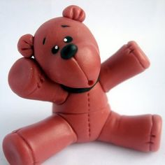 Autumnwood bears available bears cold porcelain crafts small red bear in need of a hugde with cold porcelain clay hug me altavistaventures Choice Image