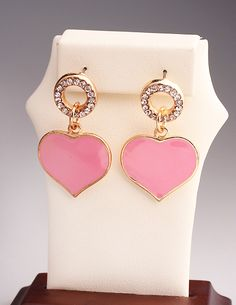 http://www.aliexpress.com/store/product/Pretty-and-Fashion-Gold-Plated-With-Loving-heart-Wedding-party-Christmas-Earrings-for-Women/239061_1858503822.html Find More Stud Earrings Information about Pink Gold Plated Loving Heart Stud Earrings Channel for Women 2014 New Fashion Wedding  Christmas Jewelry Wholesale,High Quality Stud Earrings from Hawaii Arts Jewelry