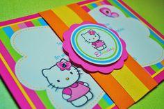 Hello Kitty Birthday invitations set of 8 by ThreeKidsPartyShop, $28.00