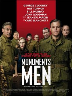 "French poster for ""Monuments Men"", (2014)."