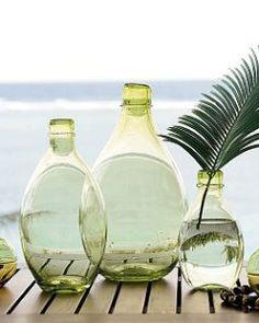 VINTAGE GREEN GLASS JUGS