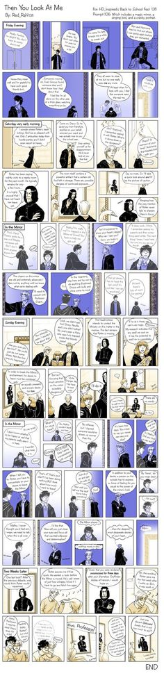 """""""Then you look at me"""" a comic by Red Rahl  Drarry"""