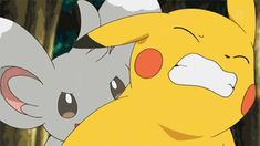 That time Pikachu wasn't having nearly as much fun as Minccino appeared to be having. | 20 Times Pokémon Accidentally Became Poképorn