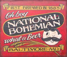 National Bohemian, aka Naty Boh - Jarrod, Jenny, Nathan and I had a bucket June 2012