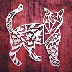 #cat #papercutting #animalart