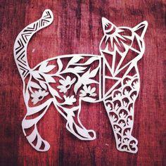 #cat #papercutting #animalart