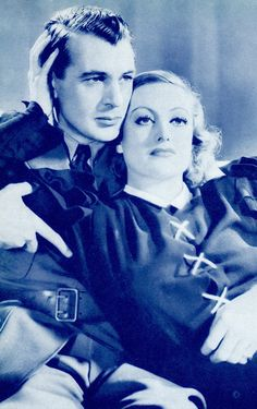 """JOAN CRAWFORD & GARY COOPER in Today We Live (detail) (1933) From The Picture Show Annual for 1934. """"During WWI, two officers, one a pilot and the other in the navy, compete for the same beautiful young woman"""" imdb. The Picture Show Annual for 1934 (please follow minkshmink on pinterest) #joancrawford #garycooper #hollywood"""