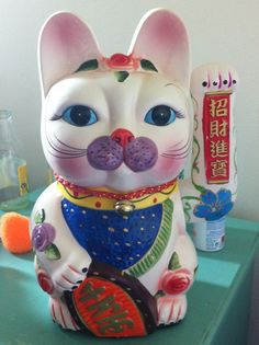 Lucky cat.. different and colourful