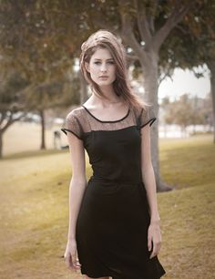 Love this little black dress from Tulle