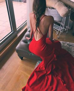 Classy Prom Dresses, Hot Sexy Mermaid Halter Neck Red Long Prom/Evening Dress with Sweep Train Backless Prom Dresses Long Dresses Short, Long Prom Gowns, Backless Prom Dresses, Short Prom, Bridesmaid Dresses, Pageant Dresses For Teens, Classy Prom Dresses, Mermaid Evening Dresses, Popular Dresses
