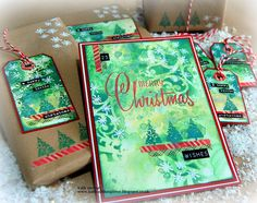 Kath's Blog......diary of the everyday life of a crafter: Simon Says - Happy Holidays Christmas Paper, Christmas Crafts, Snowflake Images, Simon Says Stamp Blog, Mixed Media Cards, Beautiful Christmas Cards, Stampers Anonymous, Brown Paper Packages, Tim Holtz