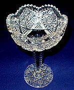 CLAPPERTON, CANADIAN BRILLIANT CUT GLASS COMPOTE, CIRCA 1905 Old Clocks, Glass Company, Antique Stores, Cut Glass, Decorative Accessories, Period, Crystals, History, Vintage