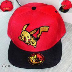 Baseball Cap Pocket Monster Pokemon Pikachu Flat Snapback Hip-hop Hat  Adjustable men women kids 76a41e9ee4ab