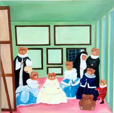 Acrylic painting#parafras-Las Meninas