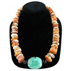 Necklace - Spiny Oyster Shell and Turquoise Necklace - JEWELRY - ACCESSORIES - LADIES | Pinto Ranch