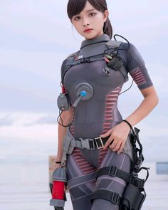 Manta Ray, Wooden Dollhouse, Bloodborne, Female Character Design, Cute Asian Girls, Call Of Duty, Female Characters, Robots, Soldiers
