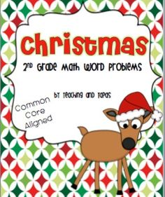 2nd Grade Christmas Math Task Cards (Common Core Aligned) FREE
