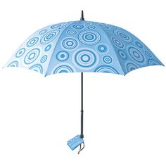 Whether you're crossing city streets or wandering alone down dark country roads (which, by the way, please don't), navigating rainy evenings can be treacherous. Stay safe with a beautiful Bright Night umbrella. These sturdy yet light designs illuminate the ground around you, making it easy to see and be seen.